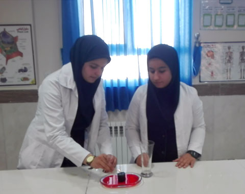 آزمایش سوختن شمع و مکش آب