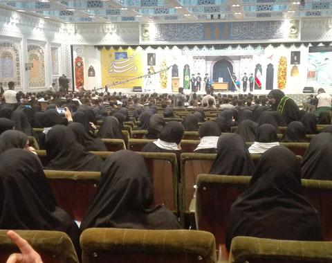 حضور در گردهمایی مدارس اسلامی شهر مشهد مقدس (در سایه سار مهر) _ 3 مهر ماه